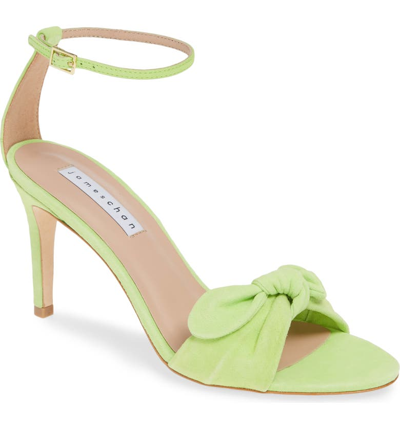 Paulina Ankle Strap Sandal, Main, color, NEON GREEN SUEDE