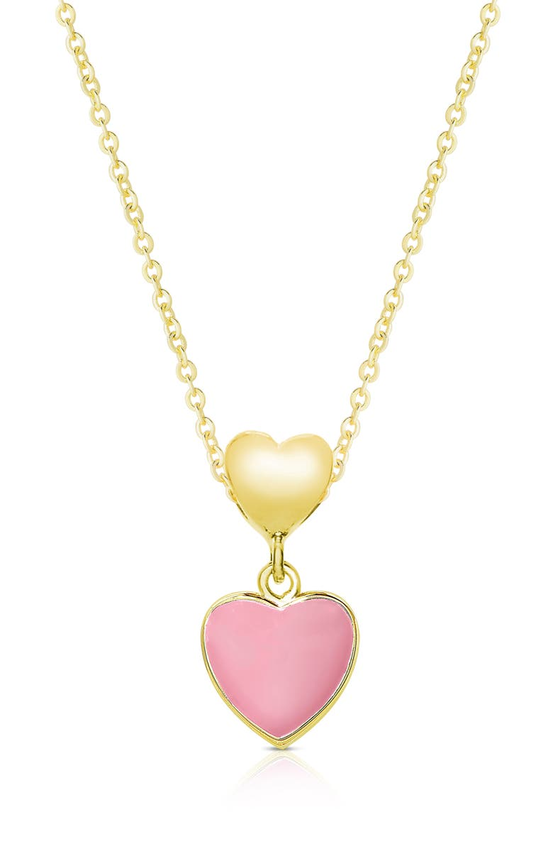 LILY NILY Heart Pendant Necklace, Main, color, GOLD