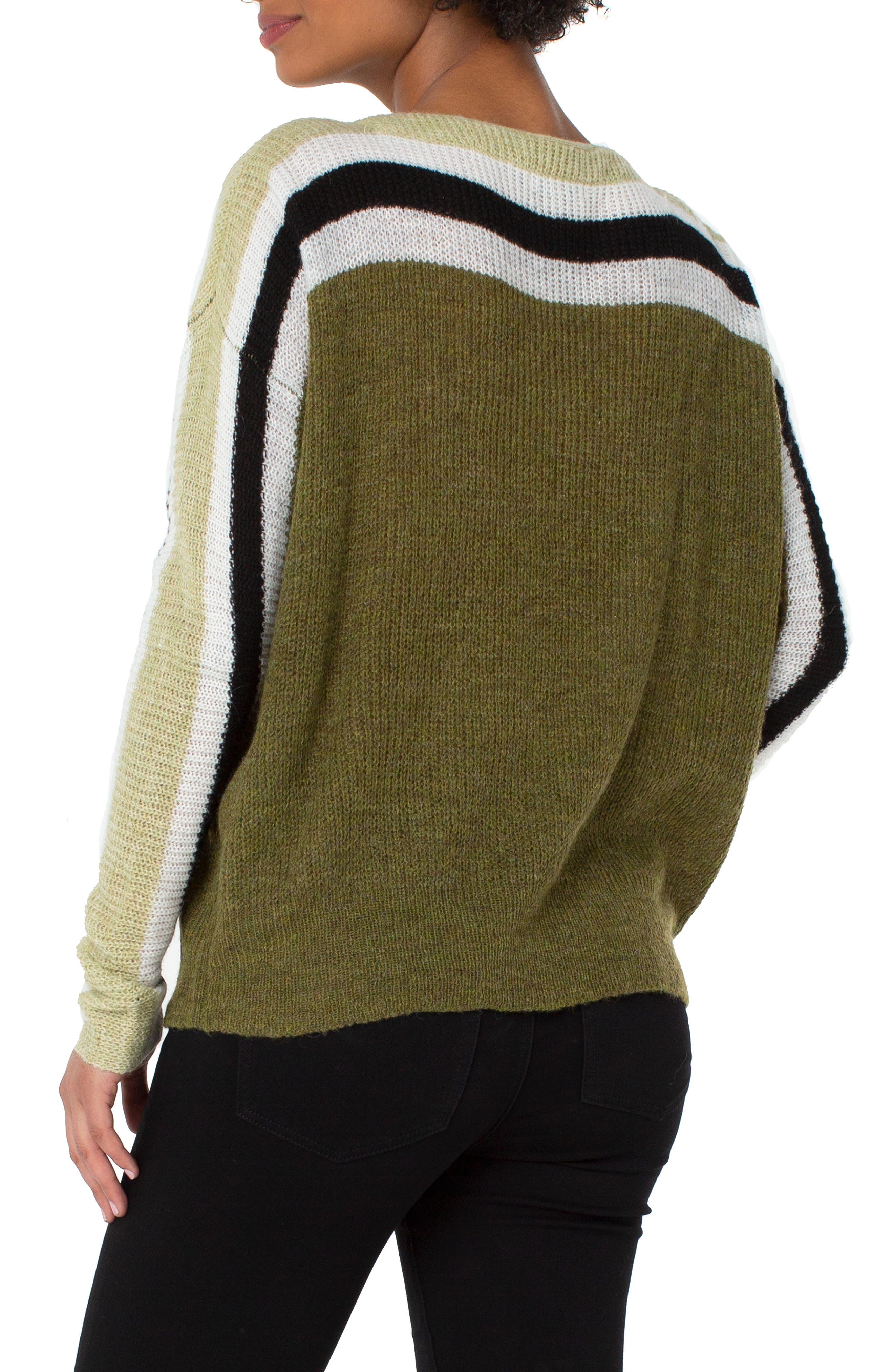 Stripe Dolman Sweater