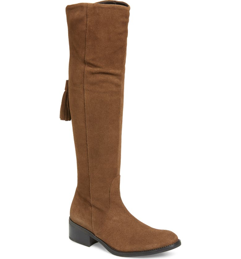 TONI PONS Tripoli Over the Knee Tassel Boot, Main, color, TAUPE SUEDE