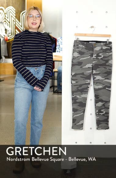 Ab-Solution Camo High Waist Ankle Skinny Pants, sales video thumbnail