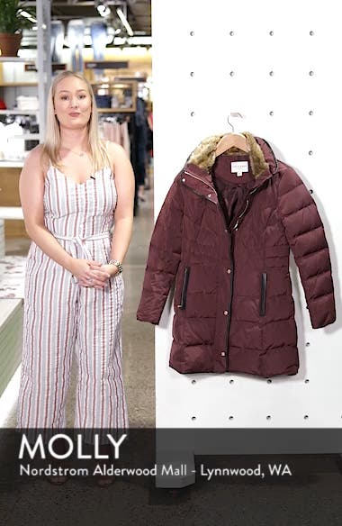 Cole Haan Quilted Down & Feather Fill Jacket with Faux Fur Trim, sales video thumbnail