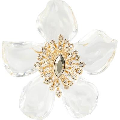Alexis Bittar Navette Crystal Burst Flower Pin