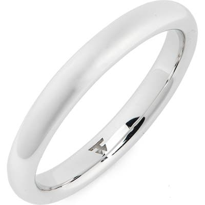 Tom Wood Slim Polished Classic Sterling Silver Band