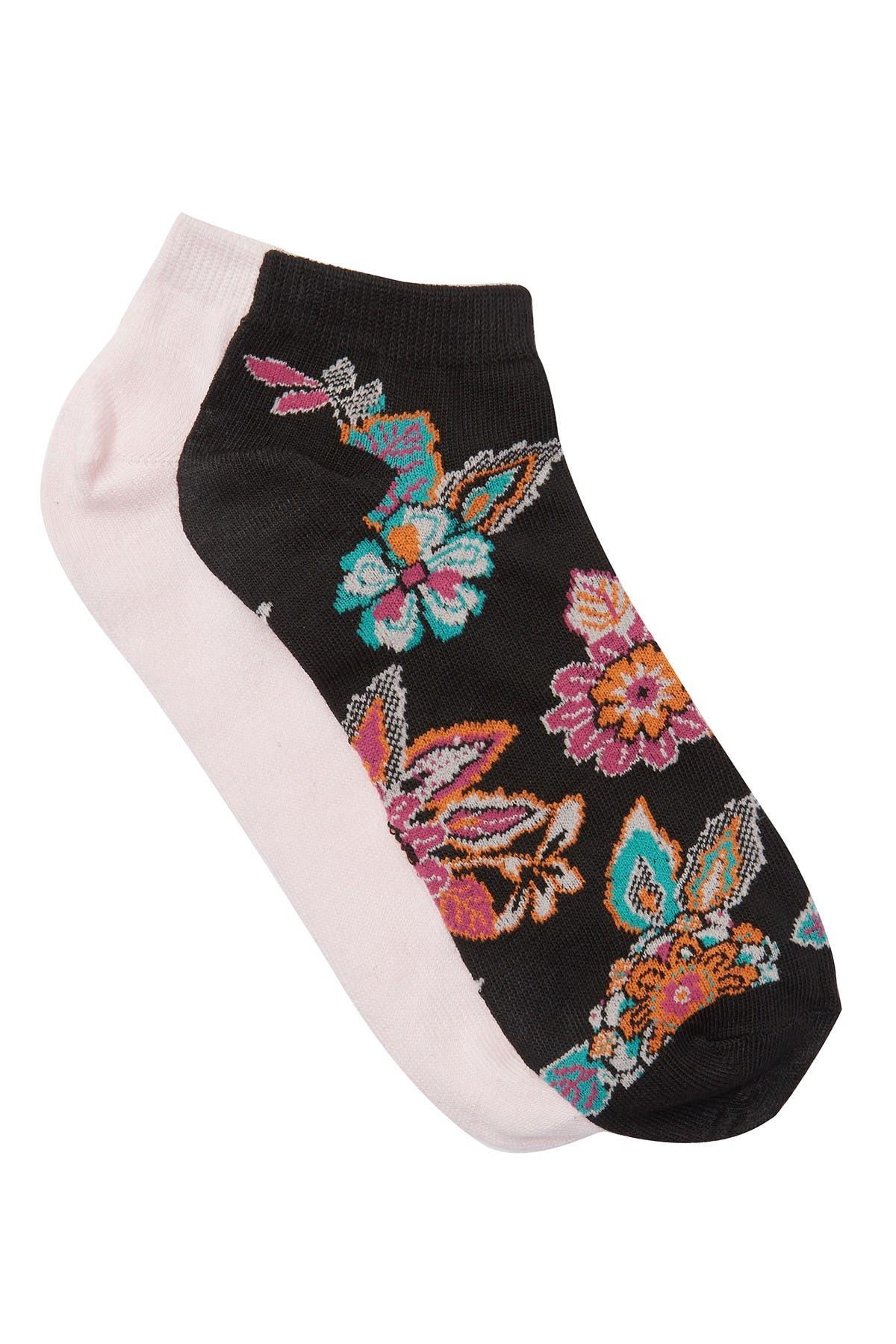 Image of Natori Pop Floral Lowcut Socks - Pack of 2