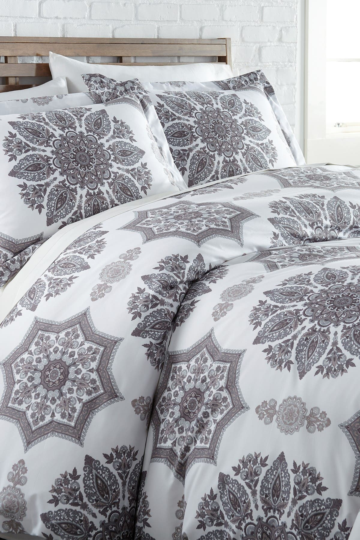 Image of SOUTHSHORE FINE LINENS Full/Queen Luxury Collection Duvet Set - Grey