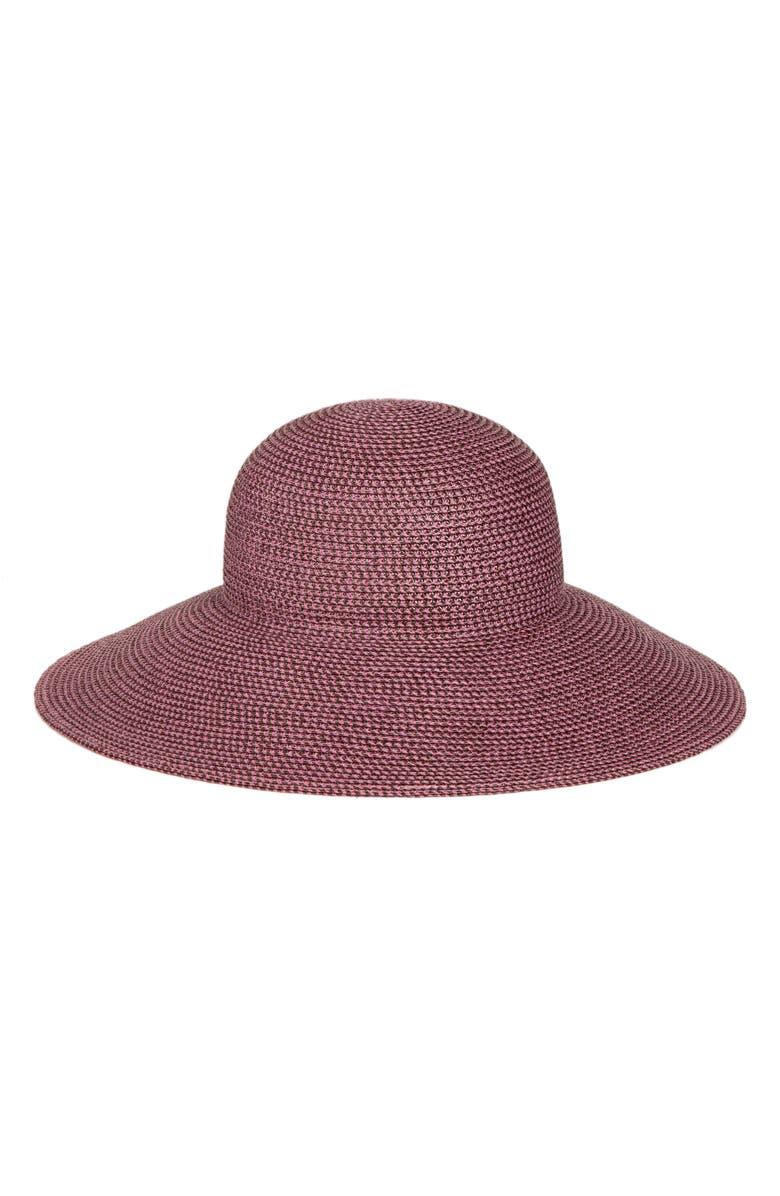 ERIC JAVITS 'Hampton' Straw Sun Hat, Main, color, MAUVE/ SPECKLE