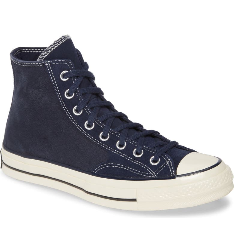 CONVERSE Chuck Taylor<sup>®</sup> All Star<sup>®</sup> 70 High Top Sneaker, Main, color, DARK OBSIDIAN SUEDE