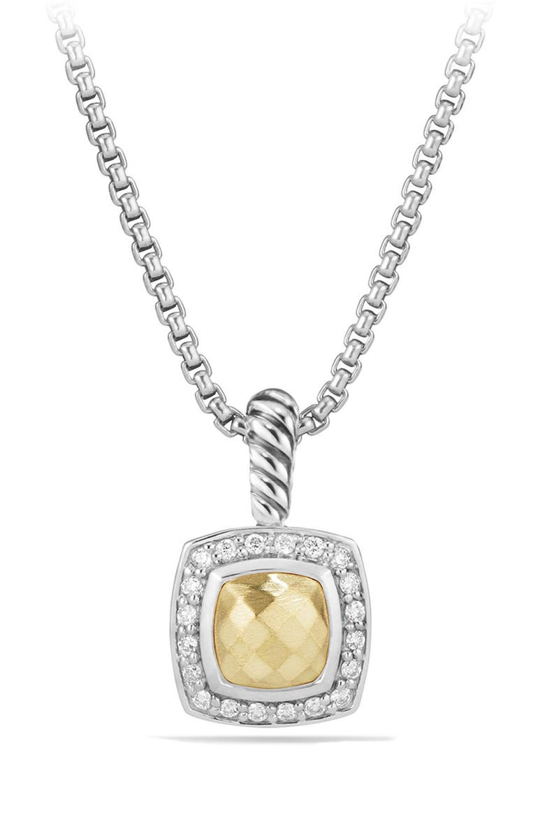 DAVID YURMAN Petite Albion<sup>®</sup> Pendant Necklace with Diamonds, Main, color, SILVER/ GOLD