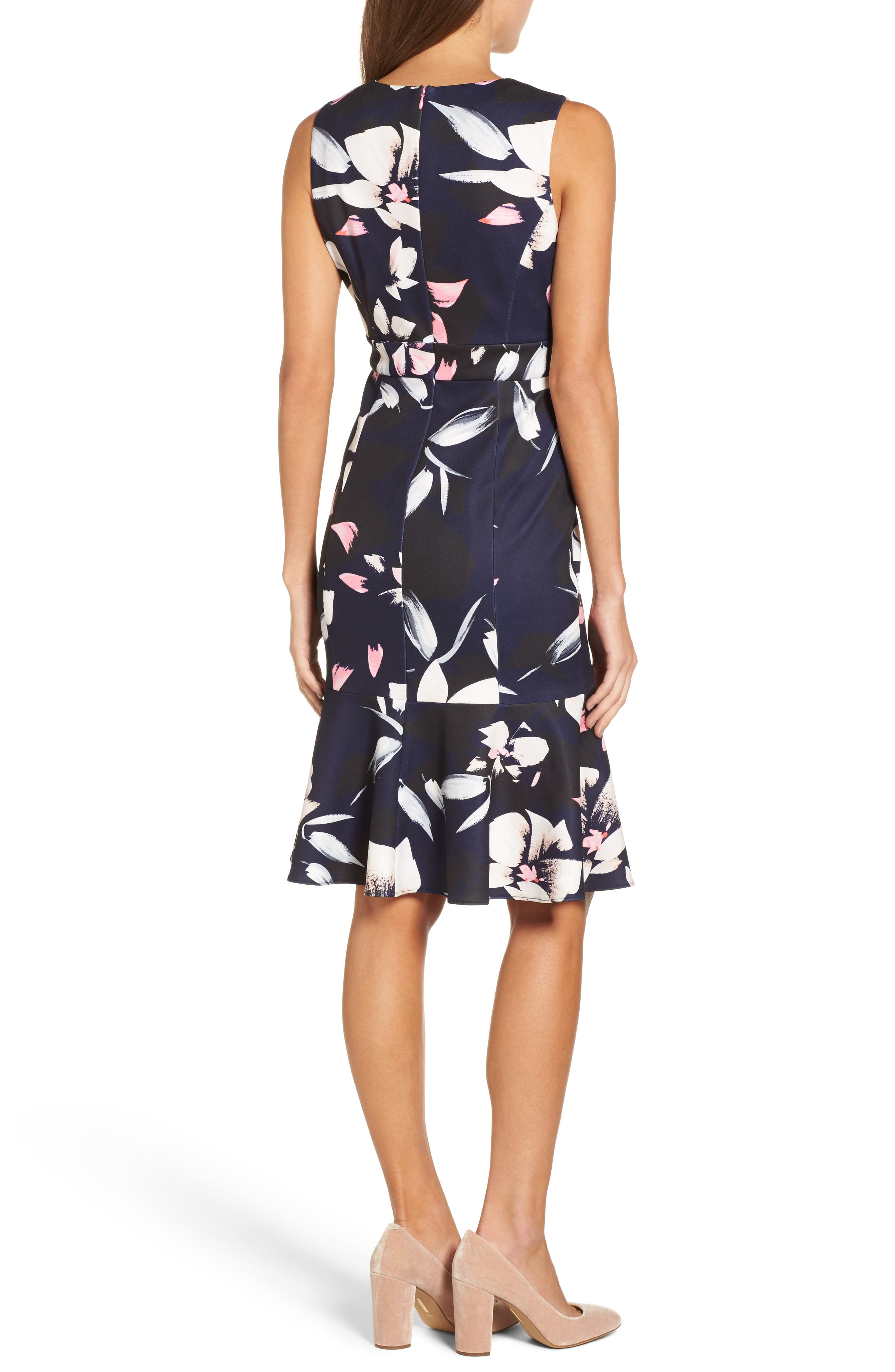 ,                             Stretch Fit & Flare Dress,                             Alternate thumbnail 2, color,                             400