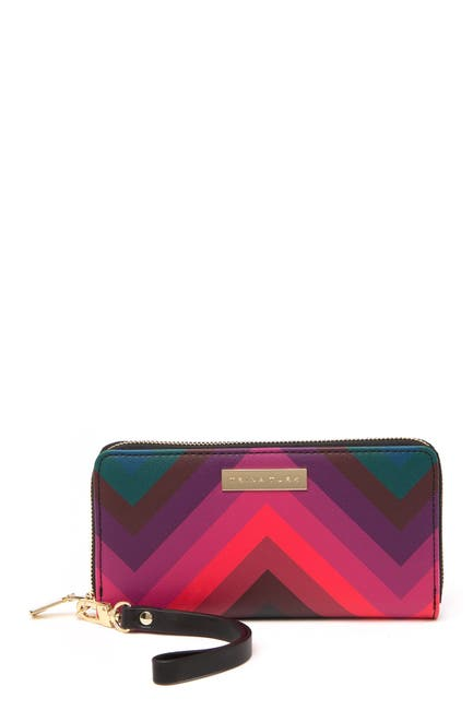 Image of Trina Turk Chevron Zip-Around Wristlet Wallet