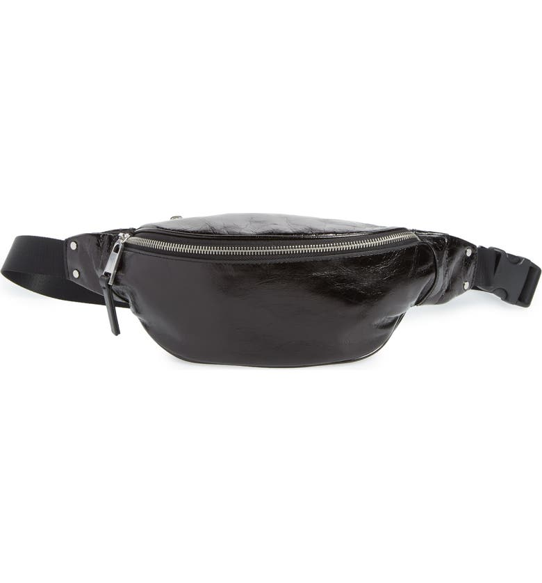 TREASURE & BOND Mason Glazed Leather Belt Bag, Main, color, 001