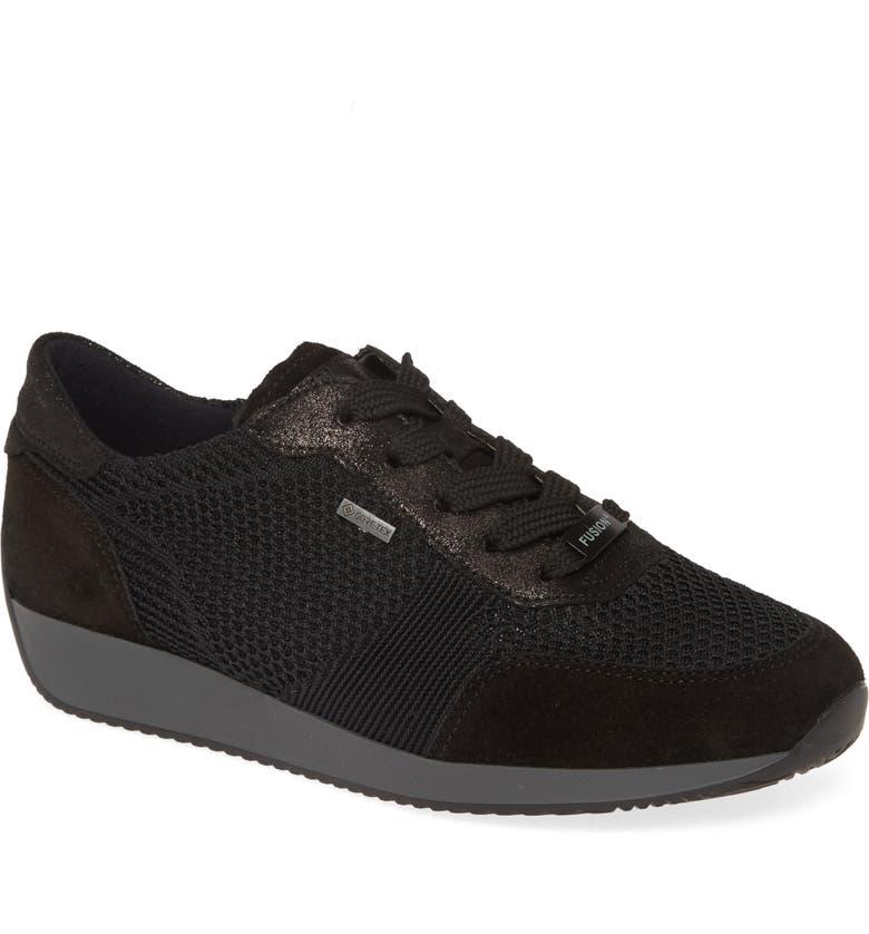 ARA Lila Gore-Tex<sup>®</sup> Waterproof Sneaker, Main, color, BLACK FABRIC