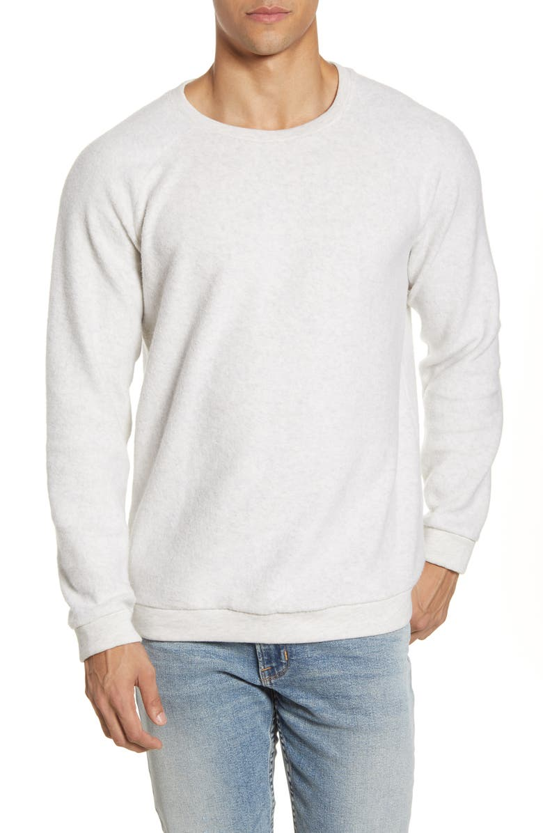 BP. Fleece Crewneck Sweatshirt, Main, color, IVORY HEATHER
