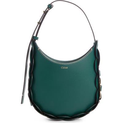 Chloe Small Darryl Leather Shoulder Bag - Green