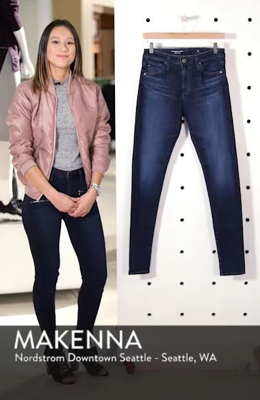 'The Farrah' High Rise Skinny Jeans, sales video thumbnail
