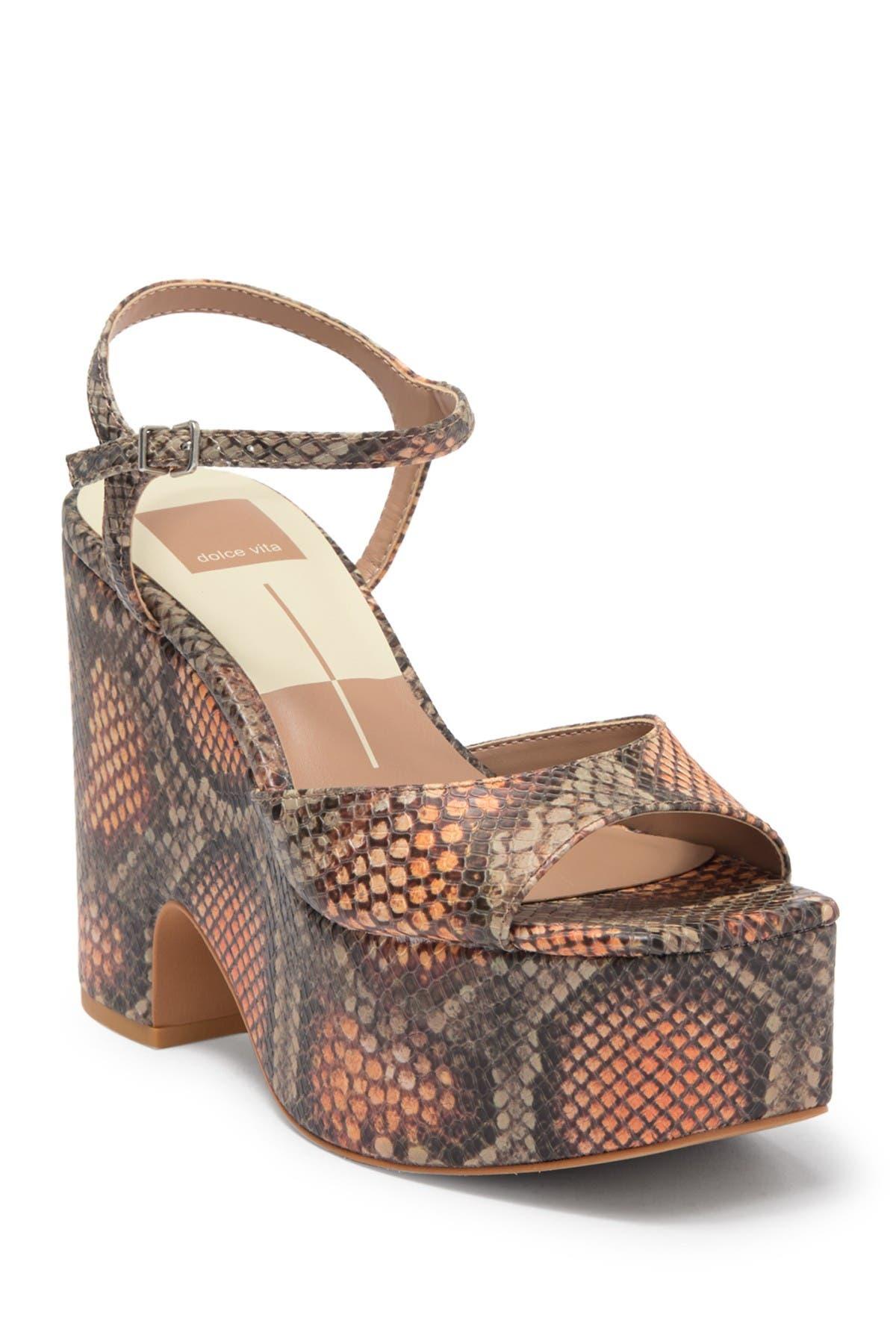 Image of Dolce Vita Porcha Embossed Platform Sandal