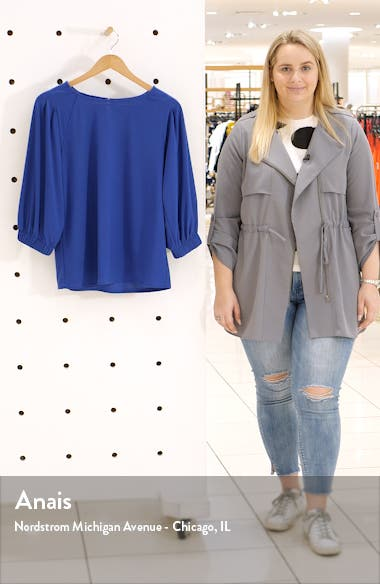 Banded Sleeve Knit Top, sales video thumbnail