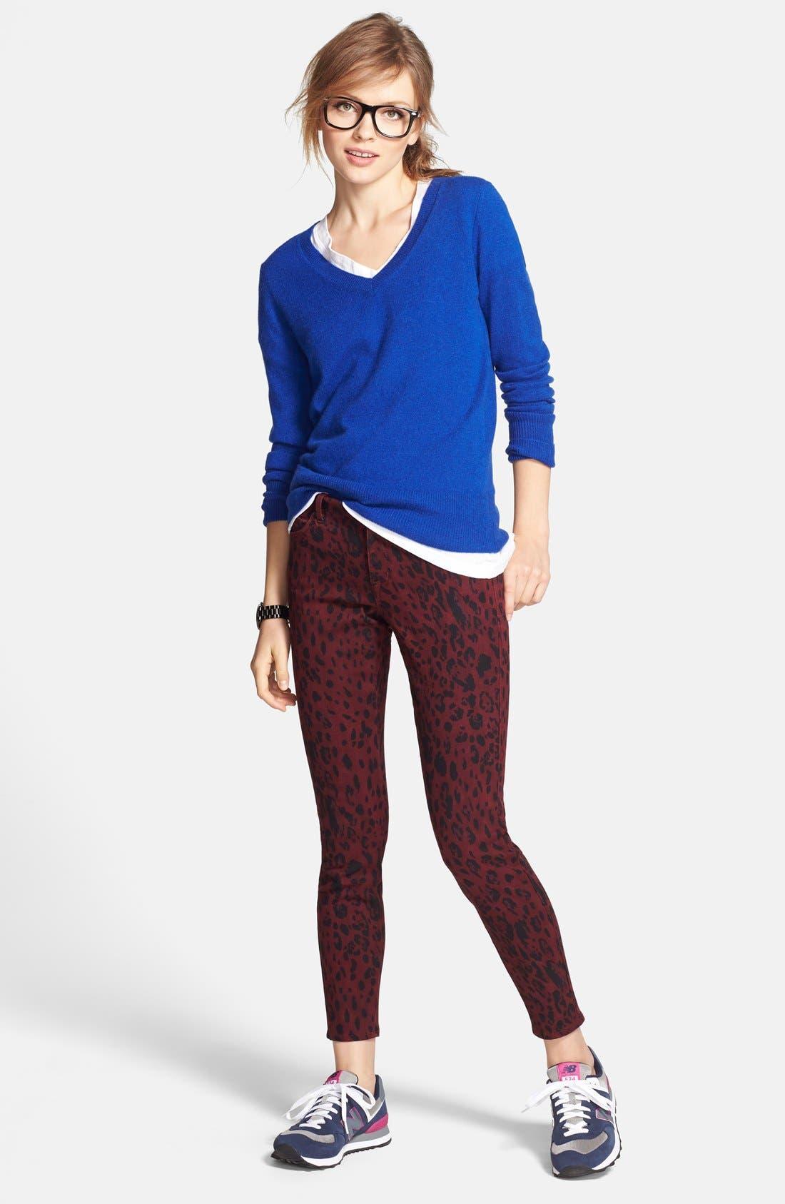 ,                             Cashmere V-Neck Sweater,                             Alternate thumbnail 36, color,                             420