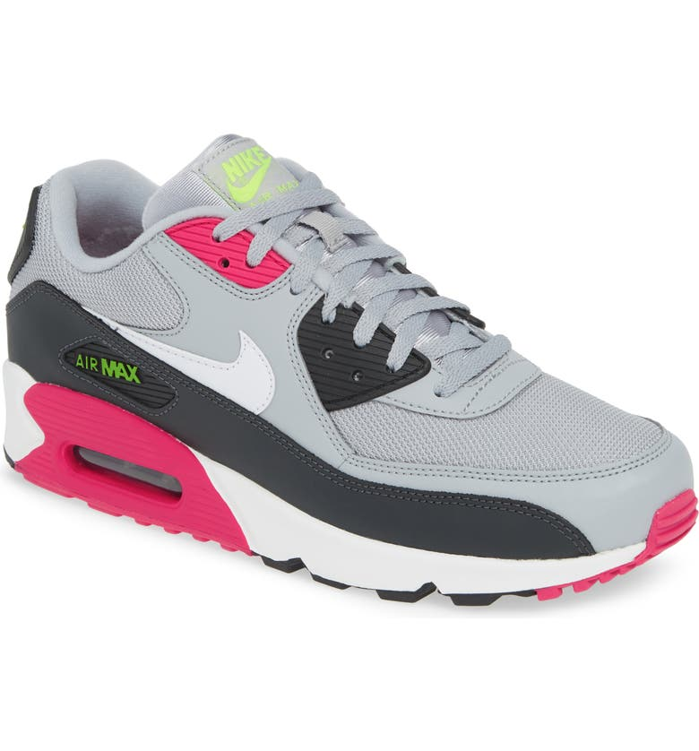NIKE Air Max 90 Essential Sneaker, Main, color, WOLF GREY/ WHITE/ PINK