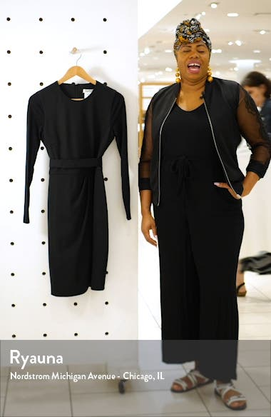 Olona Long Sleeve Stretch Wool Minidress, sales video thumbnail