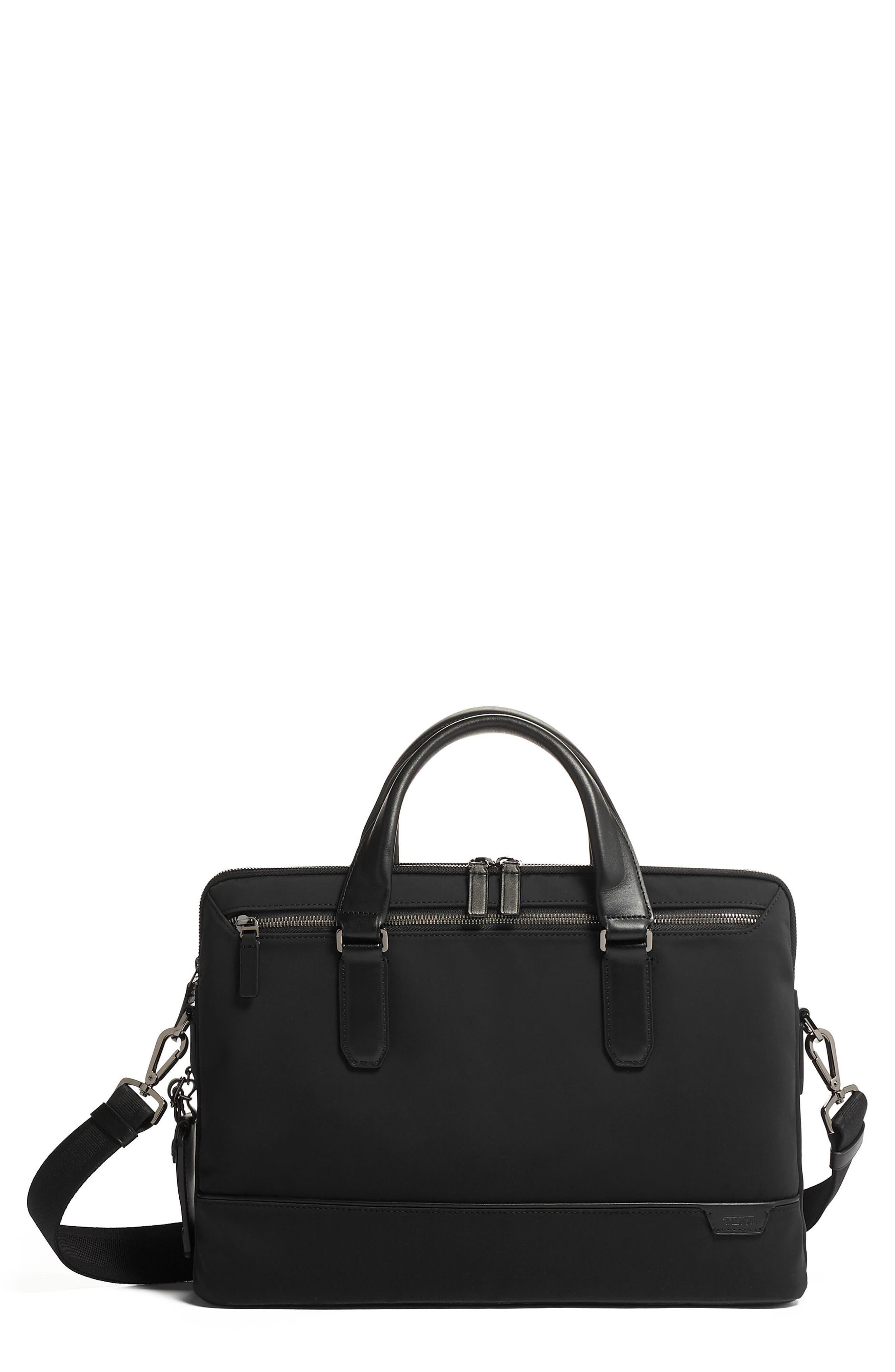 Tumi Sycamore Slim Nylon Briefcase - Black