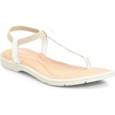 B?rn Trinity T-Strap Sandal, White