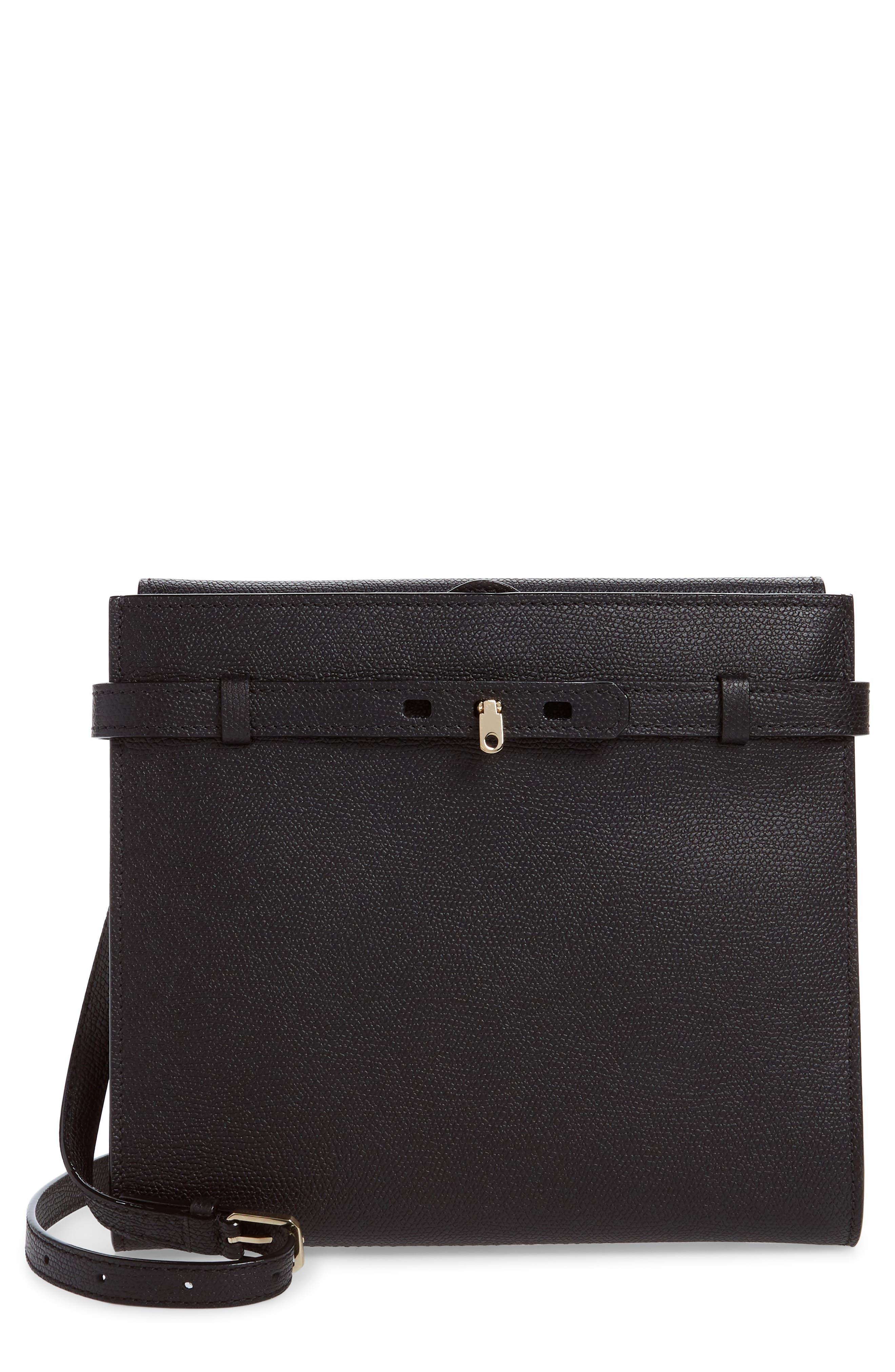 Valextra Medium B-Tracollina Leather Shoulder Bag/Clutch   Nordstrom