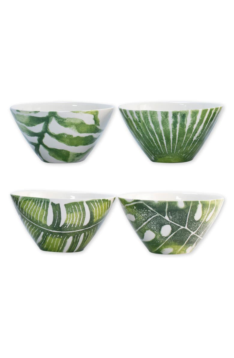 VIETRI Into the Jungle Set of 4 Cereal Bowls, Main, color, GREEN