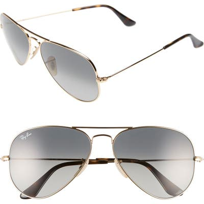 Ray-Ban Standard Original 5m Aviator Sunglasses - Gold/ Grey