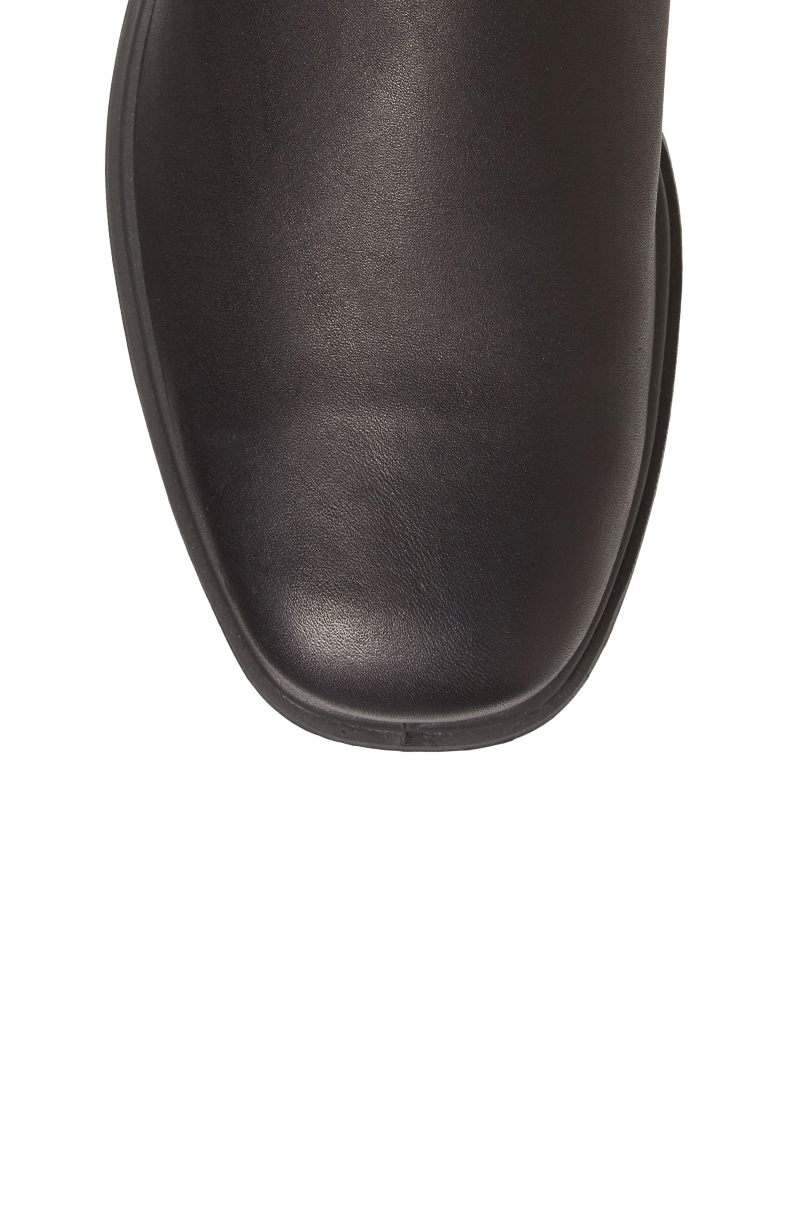 ,                             Chelsea Boot,                             Alternate thumbnail 5, color,                             BLACK LEATHER