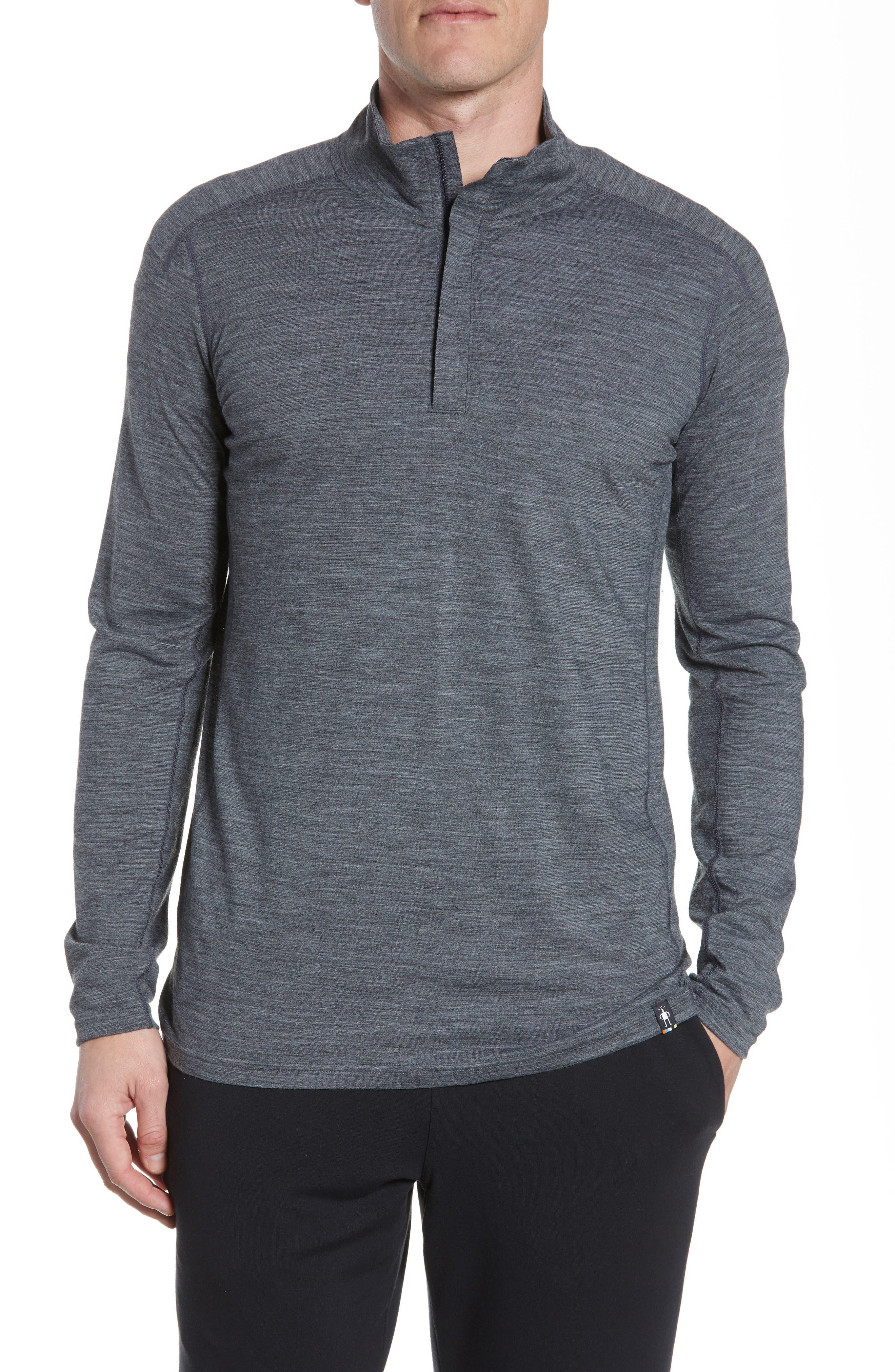 Smartwool Quarter Zip Merino Blend Pullover, Grey