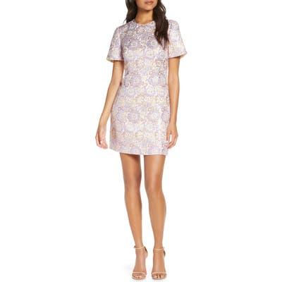 Lilly Pulitzer Gail Brocade Sheath Minidress, Purple