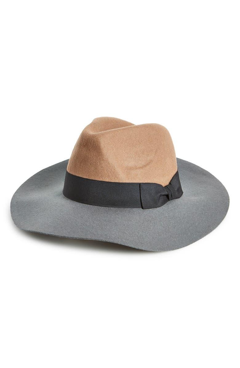 BCBG eneration Colorblock Panama Hat, Main, color, 200