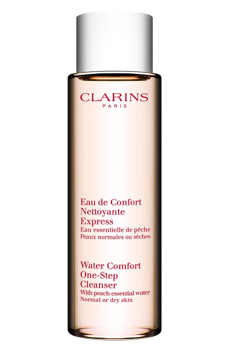 CLARINS Water Comfort One-Step Cleanser with Peach Essential Water, Main, color, NO COLOR