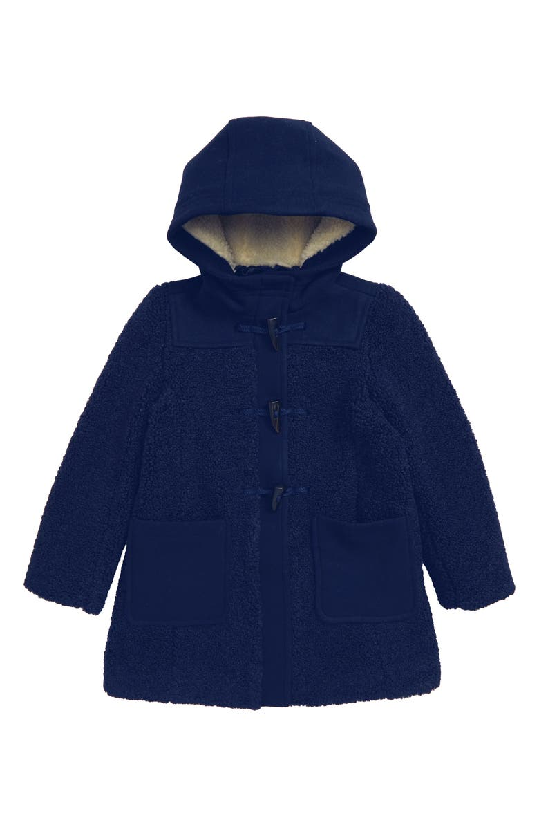 CREWCUTS BY J.CREW Faux Shearling Toggle Coat, Main, color, 400