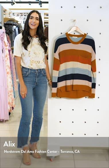 Thompson Rainbow Stripe Pocket Pullover Sweater, sales video thumbnail