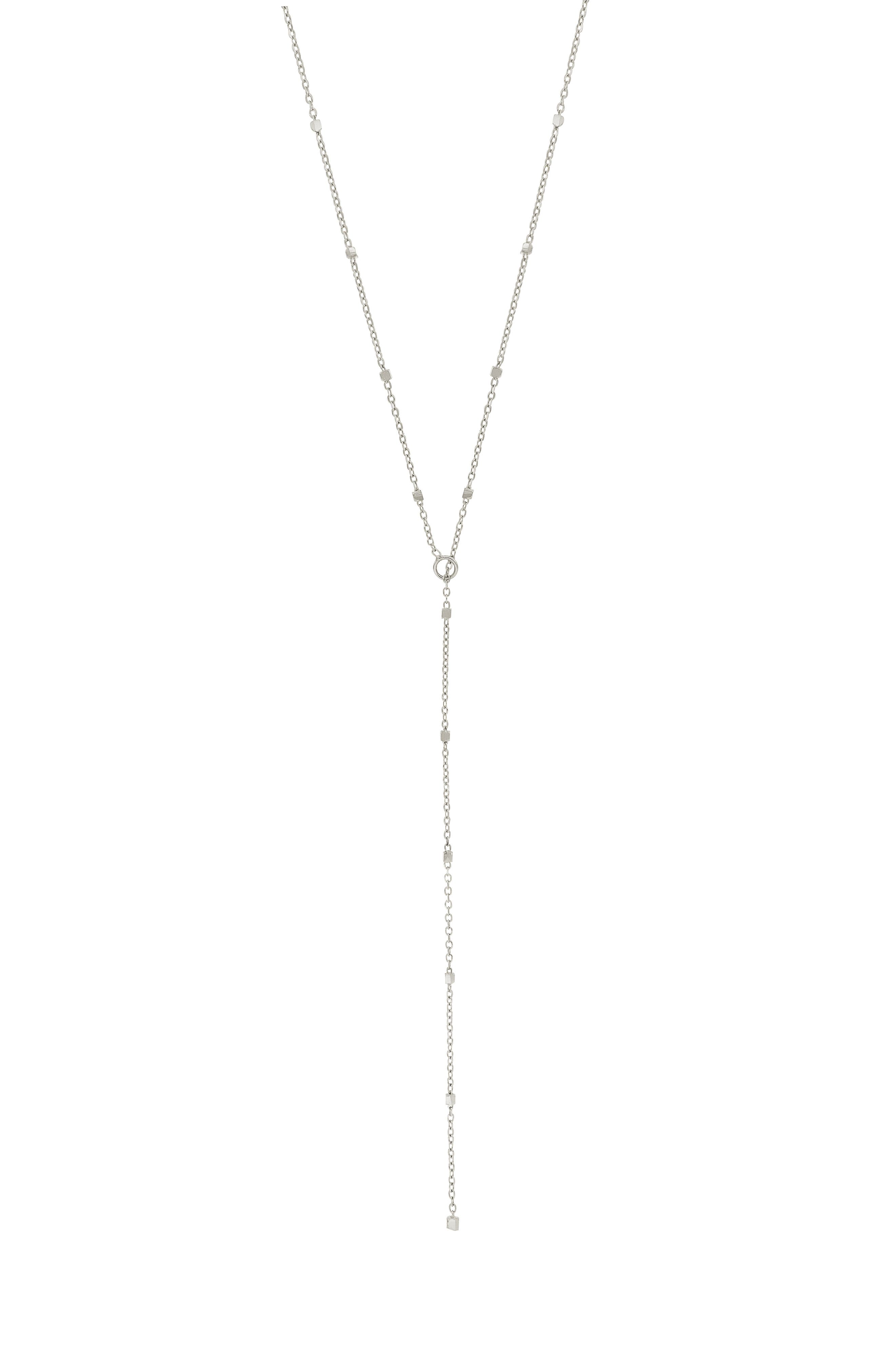 Modern and minimalist, this handcrafted necklace is anchored with simple shapes of 14-karat gold. Style Name: Bony Levy Lariat Necklace (Nordstrom Exclusive). Style Number: 5947567. Available in stores.