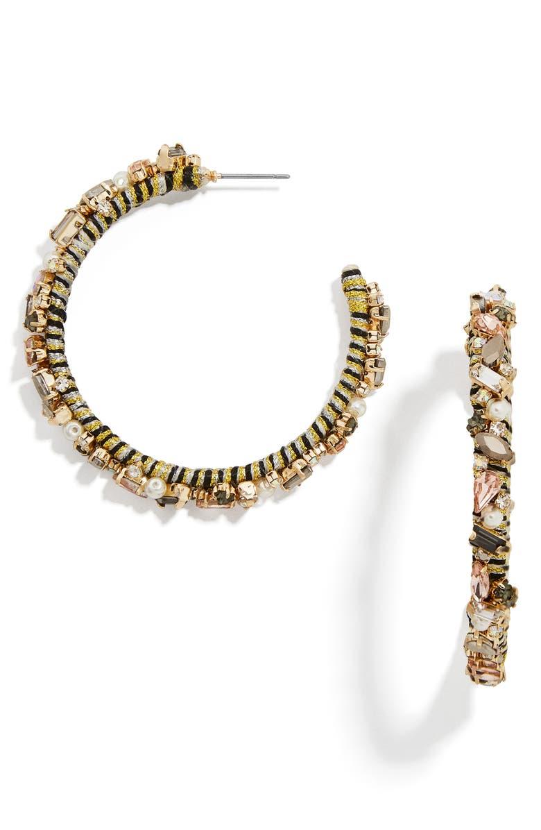 BAUBLEBAR Antares Hoop Earrings, Main, color, GOLD MULTI