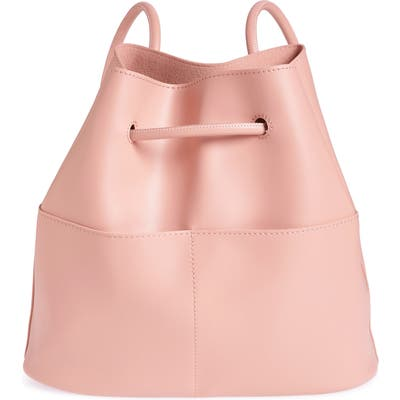 Bp. Faux Leather Drawstring Backpack - Pink