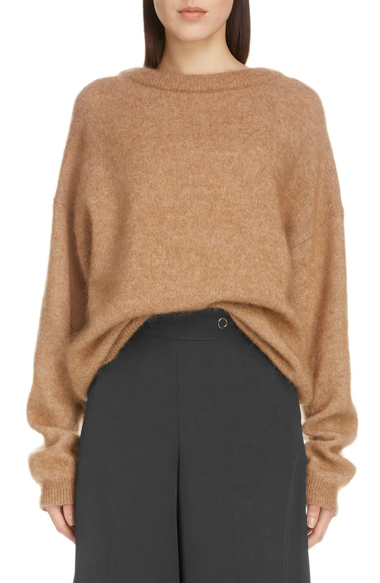 ACNE STUDIOS Oversized Sweater, Main, color, CARAMEL BROWN
