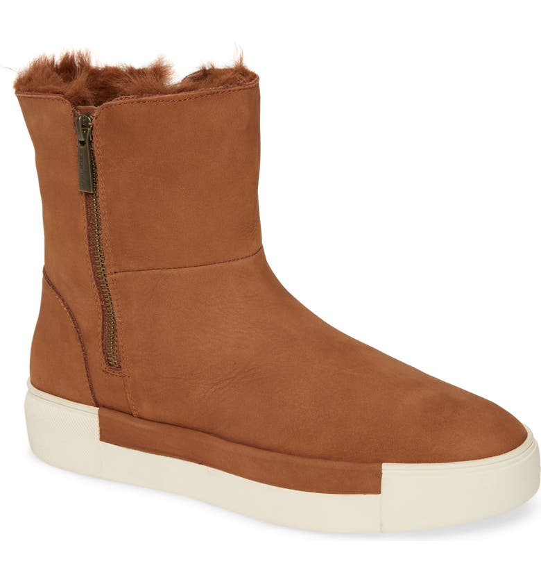 JSLIDES Victory Double Zip Boot, Main, color, TAN NUBUCK LEATHER