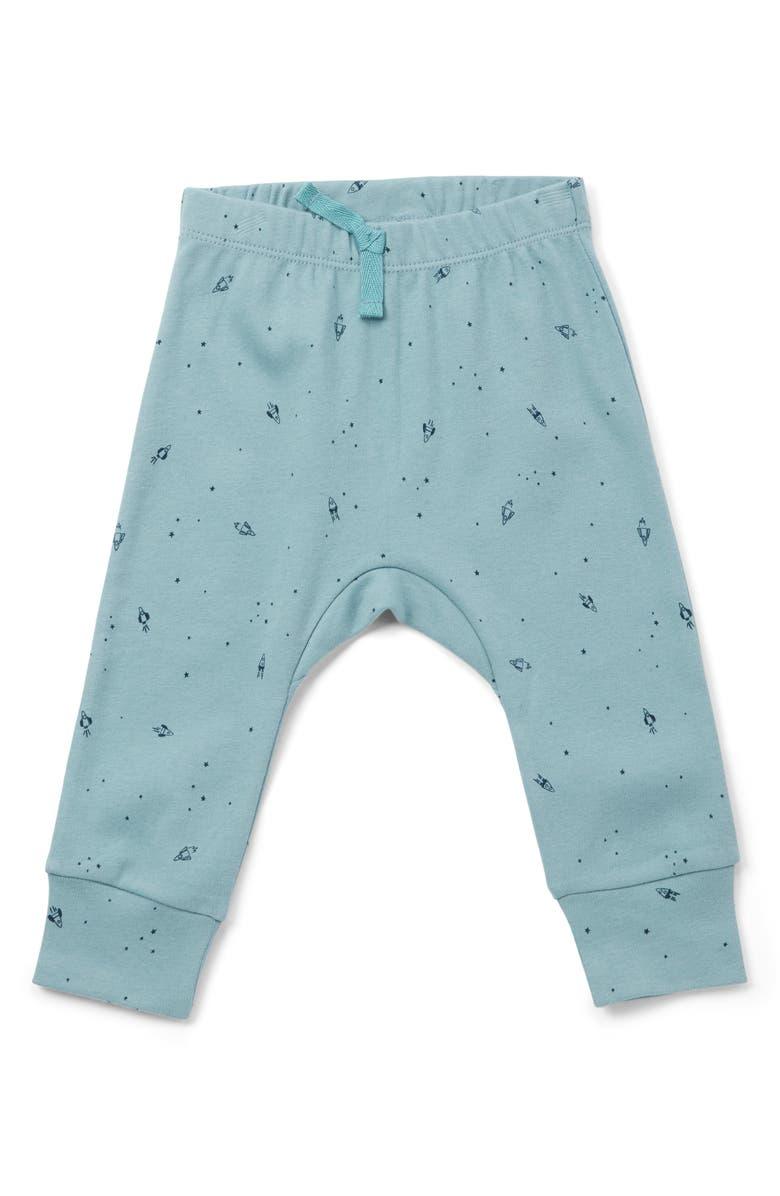 PEHR Rocketman Organic Cotton Pants, Main, color, MEDIUM BLUE