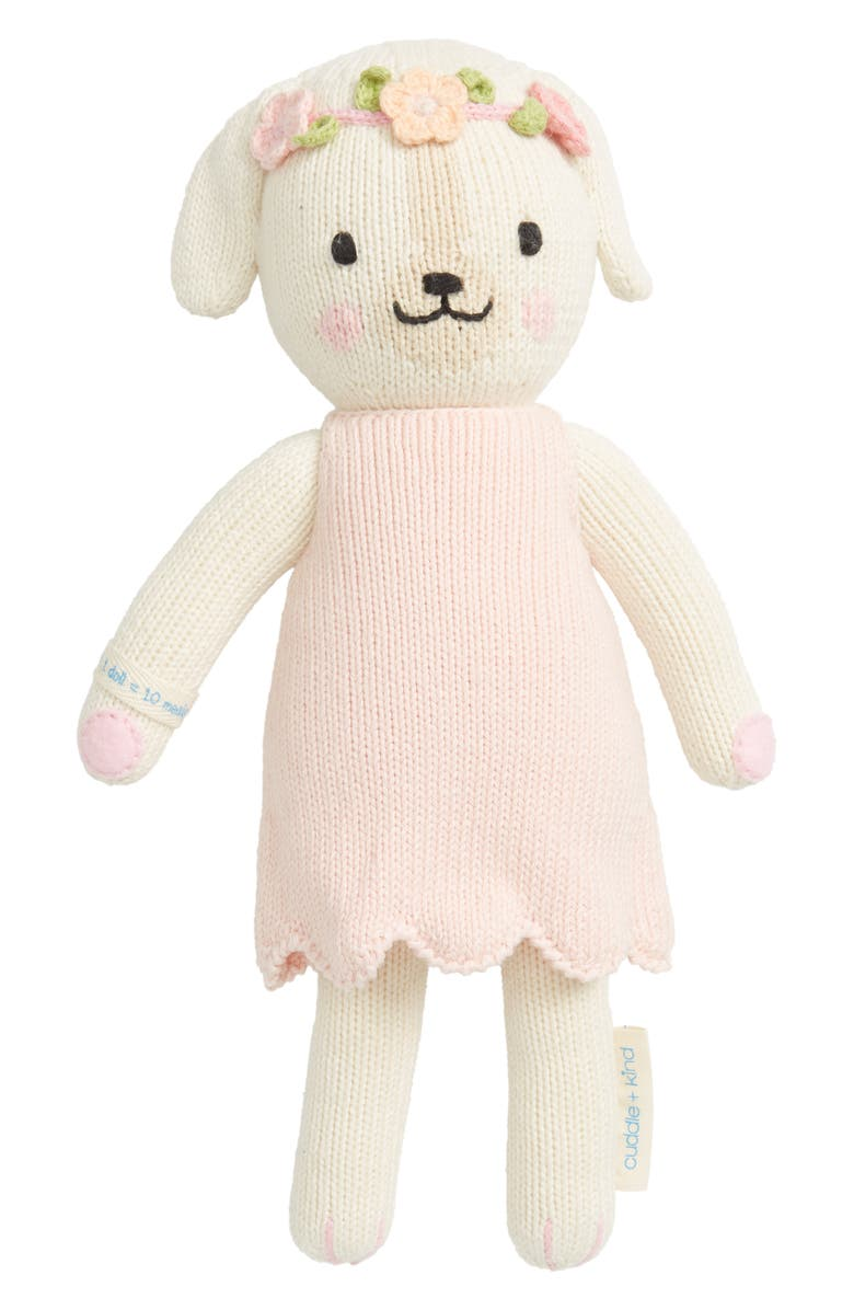 CUDDLE+KIND cuddle + kind Dog Stuffed Animal, Main, color, PINK