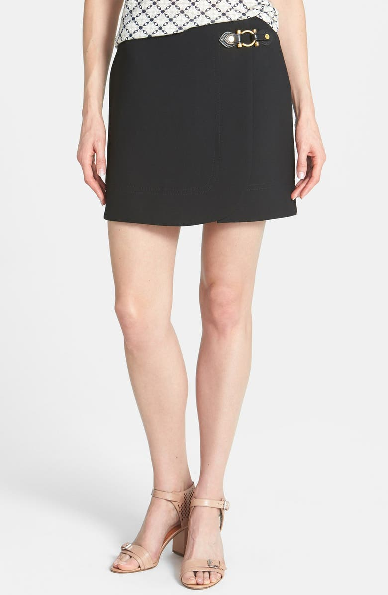 MARC BY MARC JACOBS 'Eva' Hardware Detail Stretch Miniskirt, Main, color, 001
