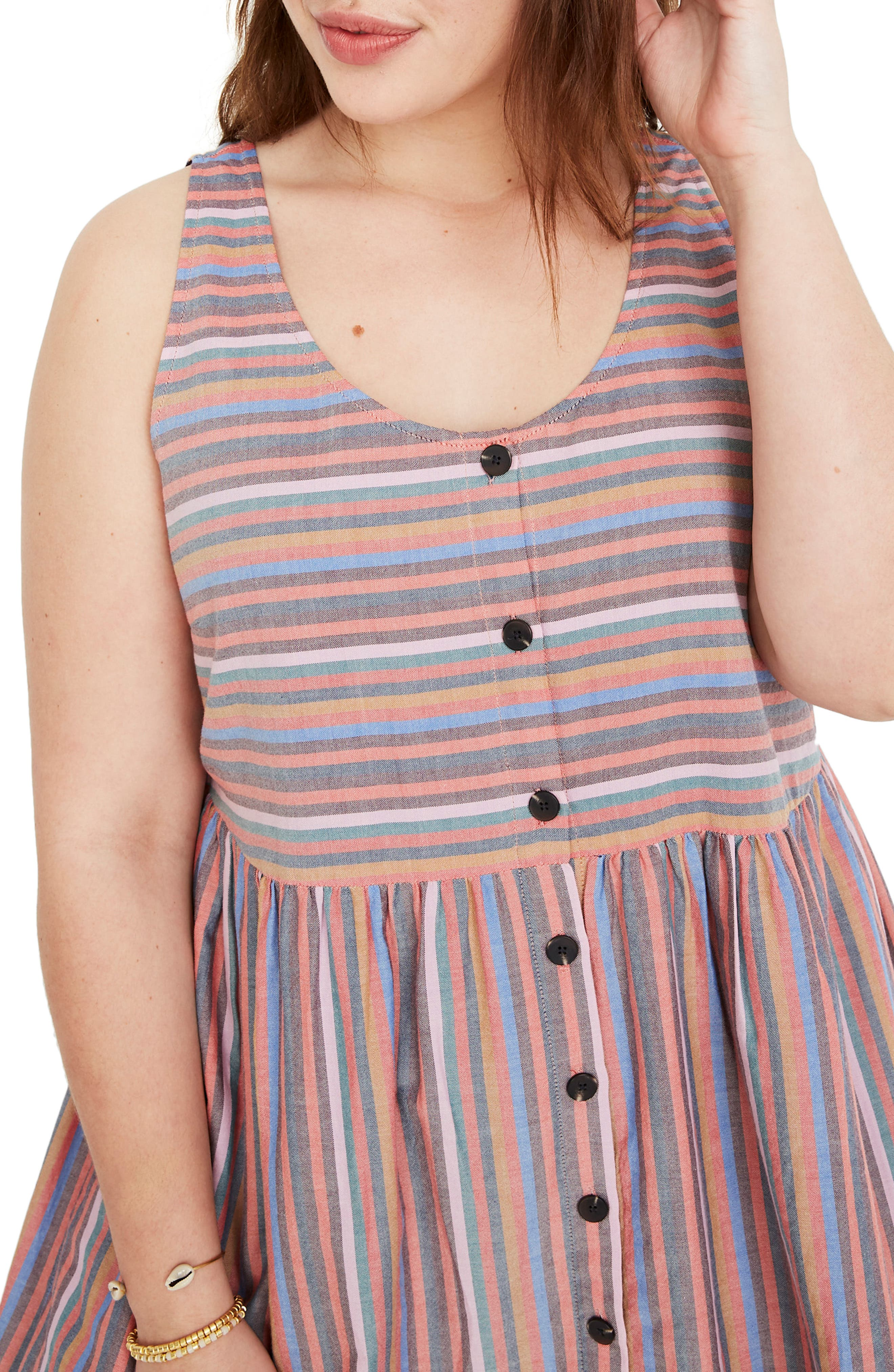 ,                             Rainbow Stripe Tank Dress,                             Alternate thumbnail 9, color,                             MULLED WINE SMITH STRIPE