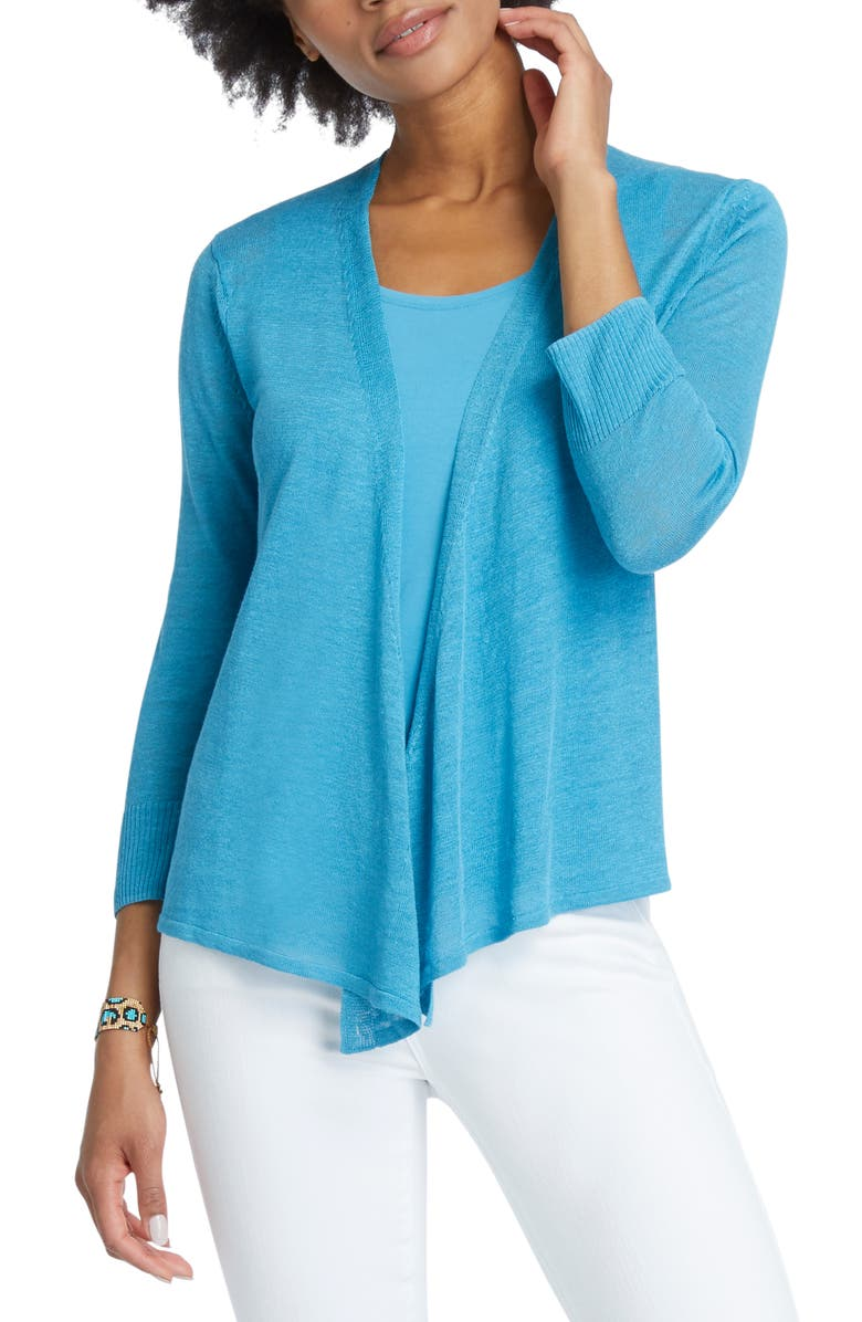NIC+ZOE 4-Way Lightweight Cardigan, Main, color, DEEP TURQUOISE