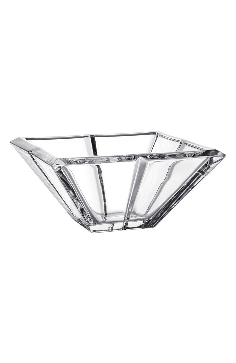 ORREFORS Plaza Lead Crystal Bowl, Main, color, CLEAR