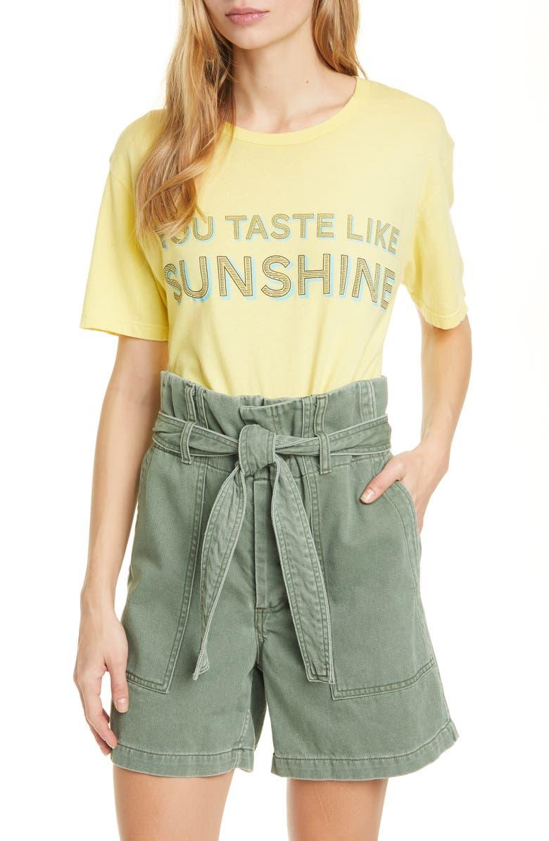 LE SUPERBE Yummy Sun Graphic Tee, Main, color, SUNSHINE YELLOW