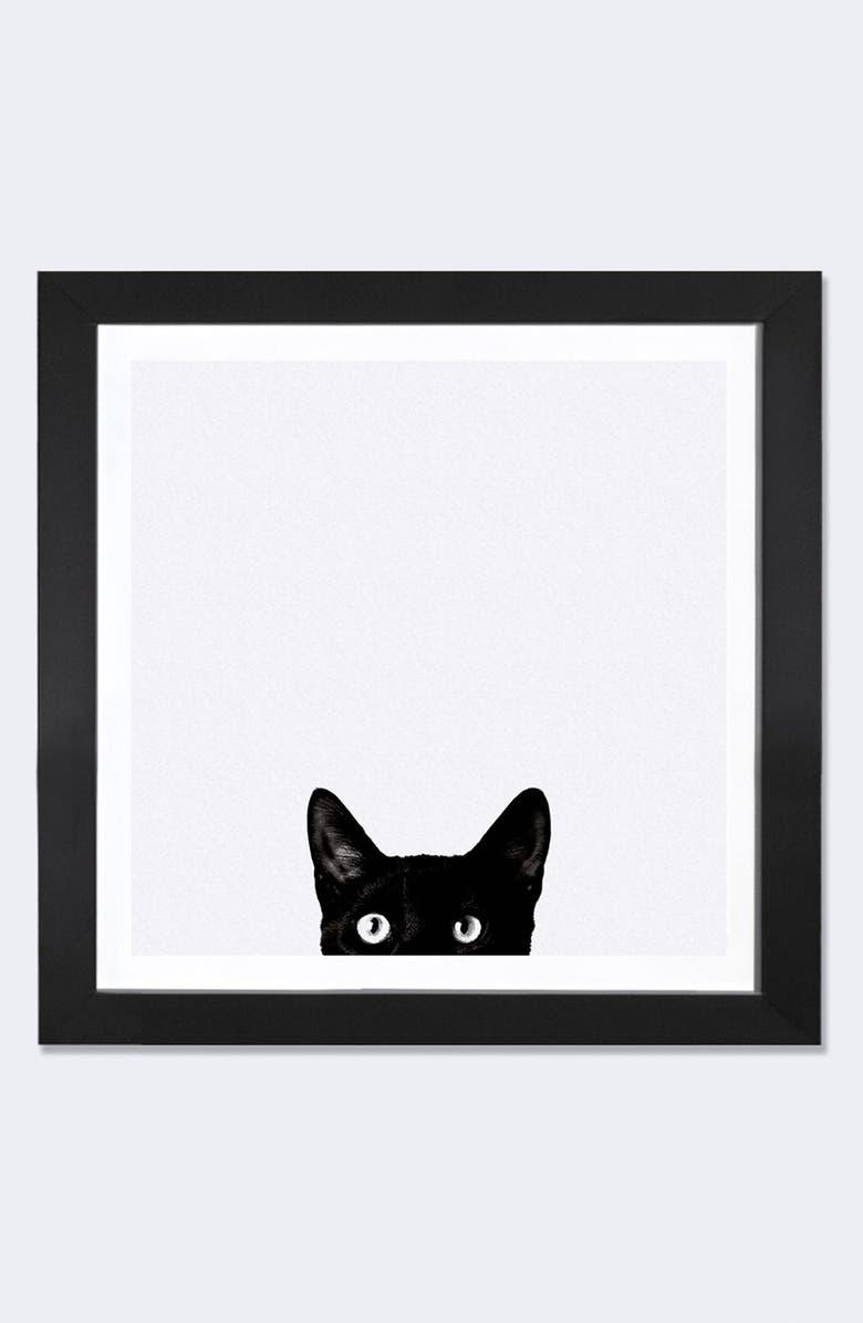 ICANVAS 'Curiosity' Framed Fine Art Print, Main, color, WHITE